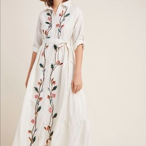 Anthropologie Embroidered Dress Size 2 NWT